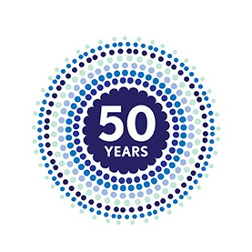 50 years in south africa logo