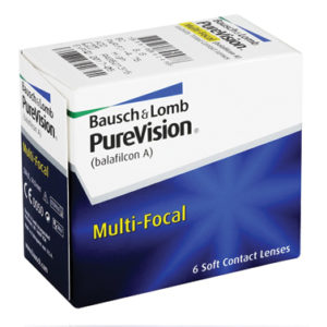 PureVision Multifocal contact lenses box